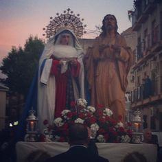 Fotografía de María Serrano García. Virgen del Dulce Nombre y Jesús de la Santa Cena -Ciudad Real- Foto hecha con móvil