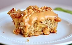 Yammie's Noshery: Aunt Pat's Banana Cake With Caramel Frosting