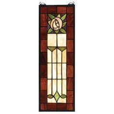 Meyda Tiffany Pasadena Rose Stained Glass Window