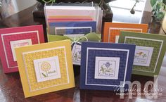 Stampin Up! Cute by the Inch -- mini card set