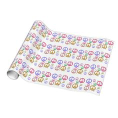 Colorful Peace Signs Gift Wrapping Paper