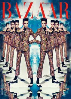 Eugenia Volodina Gets Surreal in Prada for Harpers Bazaar Spains November 2012 Cover