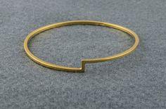 Gold Bangle by Haniajewellery on Etsy