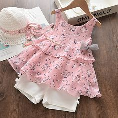 Cheap Girls Clothes, Dresses Kids Girl, Kids Outfits, Baby Frocks Designs, Kids Fashion, Fashion Outfits, Style Fashion, Girl Sleeves, Kids Frocks
