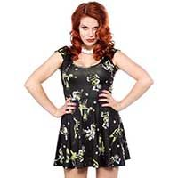Monster Mosh Skater Dress by Sourpuss Zombie Style, Punk Rock Fashion, Gothic Dress, Rock Style, Dresses Uk, Skater Dress, Pretty Outfits, Bridesmaid, Prom