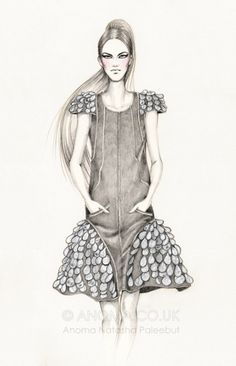 Chanel Spring 2012 Ready-to-Wear. Fashion Illustrations by Anoma Natasha Paleebut
