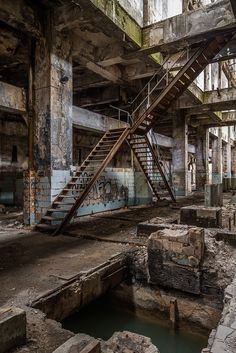~ Living a Beautiful Life ~ Journey Abandoned Buildings, Old Buildings, Abandoned Places, Ps Wallpaper, Journey Journey, Bg Design, Abandoned Factory, Underground Bunker, Industrial Architecture