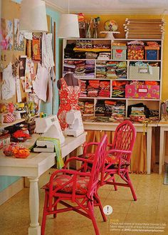 pink sewing space
