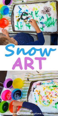 Do It Yourself Pet Property Guidance And Schematic Data Snow Art - Happy Toddler Playtime Snow Activities, Winter Activities For Kids, Winter Crafts For Kids, Winter Fun, Winter Theme, Art For Kids, Snow Theme, Preschool Winter, Winter Ideas