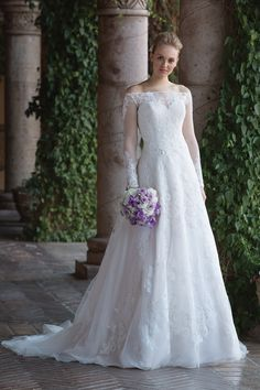 Allover Lace A-Line Gown with Sweetheart Neckline and Jacket STYLE 4024