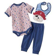 Baby by Bon Bebe Pirate Bear Turn-Me-'Round Bodysuit Set - Baby