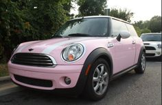 My Exact Goal At The Moment Baby Pink Mini Cooper 3