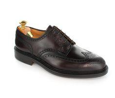Crocket and Jones Pembroke full brogue derby wing tip shoe.
