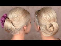 Wedding hair tutorial ❤ Prom updo hairstyle for medium/long hair - YouTube