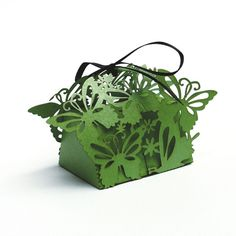"Whimsical laser cut favor box - ""Butterflies"" (Small)"