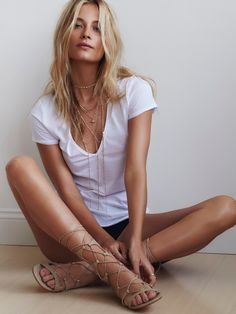 Lina Lace Up Gladiator Sandals | Brazilian leather lace-up gladiator sandals with elegant gold capped heels and leather soles.
