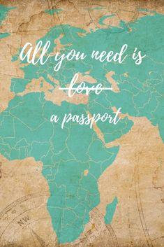 you need is a passport passport . - SprücheAll you need is a passport passport . Travel Wallpaper, Mobile Wallpaper, Iphone Wallpaper, Adventure Quotes, Adventure Travel, Best Travel Quotes, Wanderlust Travel, Passport Travel, Travel Packing