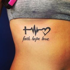 tattoos for daughters / tattoos for women ; tattoos for women small ; tattoos for moms with kids ; tattoos for guys ; tattoos with meaning ; tattoos for women meaningful ; tattoos on black women ; tattoos for daughters Body Art Tattoos, New Tattoos, Small Tattoos, Tatoos, Faith Tattoos, Rib Cage Tattoos, Bible Tattoos, Tattoo Quotes, Word Tattoos