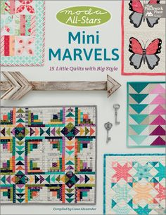 """I adore Pat A Sloan's """"Butterfly Kisses"""", a darling little mini that was pieced, quilted and appliquéd with threads from her #HometownGirl thread collection for Aurifil. It is just one of 15 Little Quilts included in #MiniMarvels, the latest release compiled by Lissa Collins Alexander for Martingale/That Patchwork Place. The book features a wonderful lineup of Moda Fabrics United Notions all-star designers.  To learn more, please visit…"""