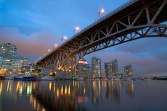 North side of False Creek with the Graville St. Bridge #Canada #Vancouver