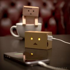Robot Head Portable Charger – $58 / The Robot Head Portable Charger is based on Danbo, a cute Japanese cardboard robot character that became very popular. http://thegadgetflow.com/portfolio/robot-head-portable-charger/