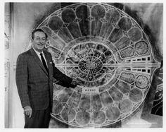 "Walt Disney. Here showing his ""Experimental Prototype Community of Tomorrow"""