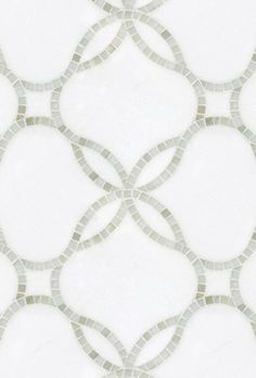 Waverly, a hand-cut and waterjet stone mosaic shown in polished Calacatta Tia and honed Thassos, is part of the Silk Road® collection by New Ravenna. Floor Patterns, Tile Patterns, Textures Patterns, Master Bath Shower, Master Bathroom, Cozy Bathroom, Design Bathroom, Bath Tub, Washroom