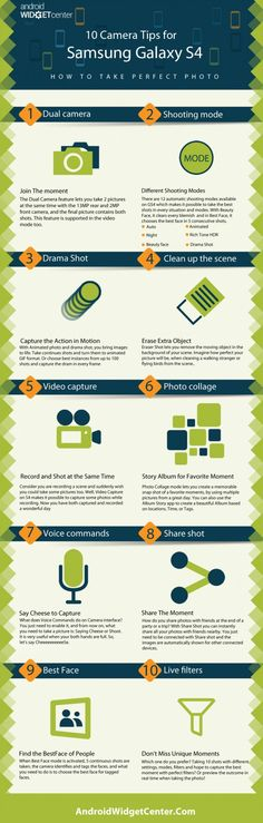 Galaxy S4 Camera Tips – Infographic