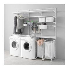 IKEA - ALGOT, Crémaillère/tablettes/séchoir, Les éléments de la série ALGOT se combinent de nombreuses façons différentes et peuvent ainsi facilement s'adapter à vos besoins et à l'espace dont vous disposez.Les consoles sont à accrocher sur les crémaillères ALGOT partout où vous avez besoin d'une tablette ou d'accessoires ; aucun outil n'est nécessaire.Peut aussi s'utiliser dans la salle de bain et dans d'autres zones humides à l'intérieur.