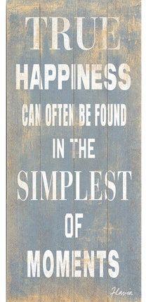 True Happiness Wall Decor