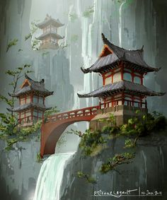 Beautiful Mountain With A Shrine Drawing - Japanese Temple By E Sketches On Deviantart Japanese Landscape Korean Temple Images Stock Photos Vectors Shutterstock Japanese Pagoda Drawings Japanes. Japanese Landscape, Fantasy Landscape, Landscape Art, Fantasy Art, Asian Landscape, Mountain Landscape, Japanese Pagoda, Japanese Shrine, Japanese Wall