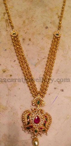 Simple Long Chain with Locket | Jewellery Designs
