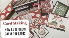Card Making Using Paper Pads to Make Cards, Notecards and Tags - YouTube