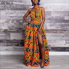 African print infinity dress Can be worn more than 10 different ways 2 side pockets Elastic Back cotton Made with high quality African print wax fabric Skirt measures approximately 45 inches MODEL IS B- W- H- Wearing size REG (S-L) INFINITY VIDEO TUTORIAL African Prom Dresses, Latest African Fashion Dresses, African Inspired Fashion, African Dresses For Women, African Print Fashion, African Attire, African Wear, African Outfits, African Clothes