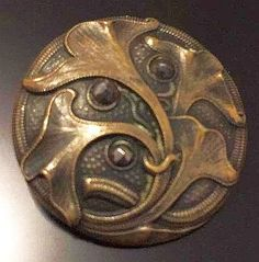 Arts & Crafts Brass button