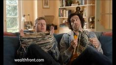 Funny knitting commercial!  A man and his friend are knitting together and discussing Wealthfront's automated investment services. Because Wealthfront has such low fees and minimums, they'll have enough money to buy all kinds of yarn, or even open that yarn shop. But what to call it? The Yarn Barn, Knit Wit, Knitty Knitty Bang Bang or Knit Happens? Visit wealthfront.com and you too can decide what to do with all your savings.
