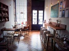 Cool cafe : floors / doors / stools / cool
