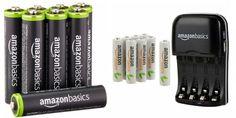 AmazonBasics AA & AAA Batteries + Charger Deals!