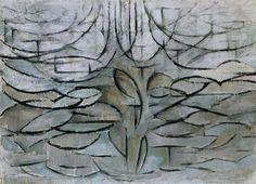 Piet Mondrian - Flowering Apple Tree 1912