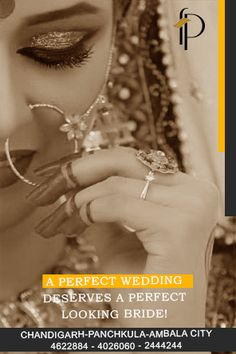 A Perfect #Wedding Deserves a Perfect Looking #Bride!  Come +Femina Plus our experienced stylists will add a #special touch to your #wedding by giving the perfect #bridal #hairstyle & #makeup to suit you..!!  Book your appointment now @ 0172 4622884 (Chd), 4025050 (PKL) & 2444244 (Ambala)