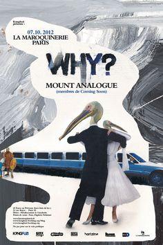 WHY? + MOUNT ANALOGUE en concert à Paris !!