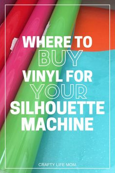 Where to Buy Vinyl for Your Craft Machine Buy Vinyl, Cricut Vinyl, Dollar Store Crafts, Dollar Stores, Diy Vinyl Projects, Circuit Projects, Pinterest Crafts, Diy Cutting Board, Diy Gifts For Friends