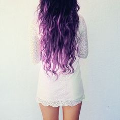 Long Wavy Purple Hai