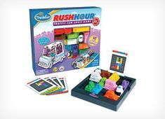 This Rush Hour Junior game by thinkfun is one of our favorite brain teaser logic games for kids. Kids will work on math and problem solving skills while doing fun challenge cards. Rush Hour Jr also makes a great on the go kids travel activity too. Toys For Boys, Games For Kids, Kids Toys, Rush Hour Game, Traffic Jam Game, Hora Do Rush, Hora Pico, Logic Games, Busy Boxes