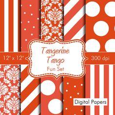 Pantones Spring Colors Fun Digital Papers for by HeadsUpGirls, $4.50