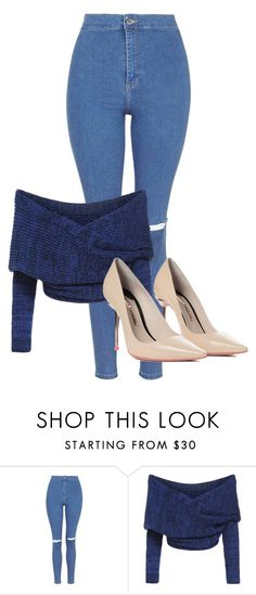 """""""#3"""" by melissagatzia ❤ liked on Polyvore featuring Topshop and Sophia Webster"""