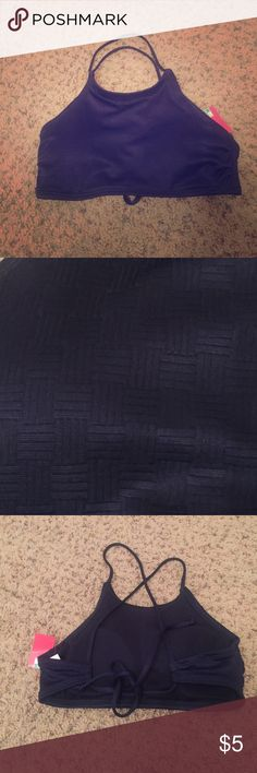 Navy swimsuit top NWT. any questions please ask Swim Bikinis