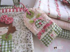 sweet pilukas: Tags tissu avec des lapins