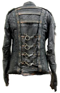 "Junker Blade Runner jacket- I would love this for my motorcycle outings, I'd feel very post apocalyptic and bad ass. I would walk into bars clicking bottles together saying ""Warriors! Come out to play-ay!!"""