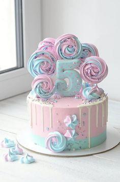 Candy Birthday Cakes, Unique Birthday Cakes, Beautiful Birthday Cakes, Little Girl Birthday Cakes, Little Girl Cakes, Cake Decorating Frosting, Cake Decorating Designs, Birthday Cake Decorating, Decorating Ideas